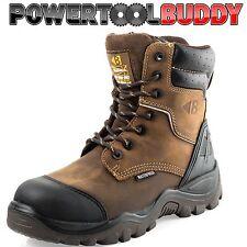Buckler Buckshot BSH008WPNM HRO Brown Leather Waterproof Lace/Zip safety boot