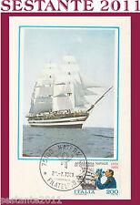 ITALIA MAXIMUM MAXI CARD 1981 NAVE SCUOLA AMERIGO VESPUCCI (352)