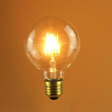 3 X 4W E27/B22 Vintage LED BulbS Industrial Filament Edison Light Lamp Amber G80