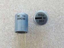 2 condensateurs 100uF 35V 105°C Vishay BC 116 RLL
