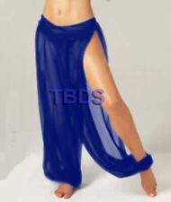 Royal Blue   Slit Harem Yoga Trouser Belly Dance Pant Pantalons Boho   25 Color