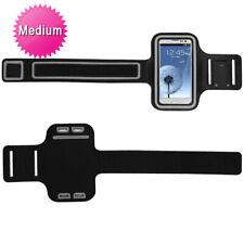 Black Gray Sports Gym Running Jogging Walking Armband Case Phone Holder Strap