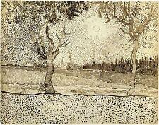 Van Gogh Drawings: The Road to Tarascon - Fine Art Print