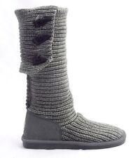 Bearpaw Knit Tall Boot 658W Gray | US Women 7 6 | NIB