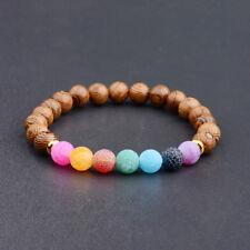 7 Chakras Healing Bracelet Mala Reiki Energy Boho Women Man Wooden Bracelets