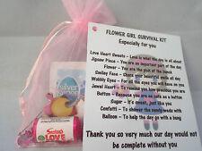 Flower Girl Novelty Survival Kit Gift Keepsake Fun Present