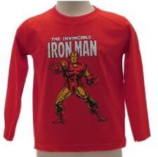 camiseta Hierro Man Manga Larga La Avengers Original Marvel Rojo Ironman
