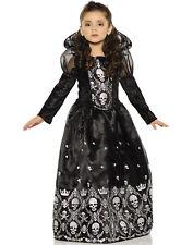 Dark Princess Girls Evil Ruler Of The Dead Gown Halloween Costume