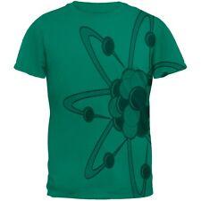 Big Molecule All Over Jade Green Adult T-Shirt