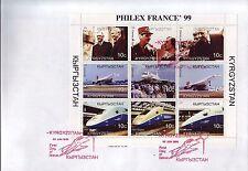 5279+ CONCORDE 30 ANS ANNIVERSAIRE 1er VOL- + G. DE GAULLE  BLOC KYRGYZSTAN 1999