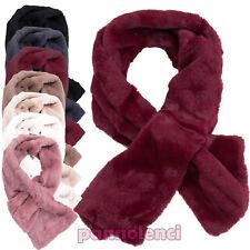 Bufanda de mujer braga de cuello suave caliente banda piel sintética nueva 6-29