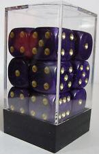 Paquete De 12 Pearl Purple Dados - 6 Lados & 15mm Lados!!