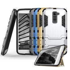 Schutz Hülle mit Kickstand für LG K10 Outdoor Armor Cover Hybrid Bumper Case TPU