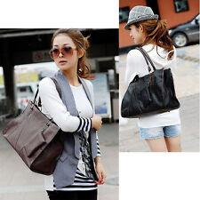 Ladies Designer PU Leather Style Tote Satchel Shoulder Handbag Bag Fashion