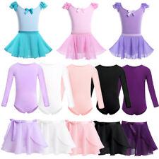 Ballet Dance Dress Kids Baby Girls Gymnastics Leotards with Wrap Skirt Dancewear