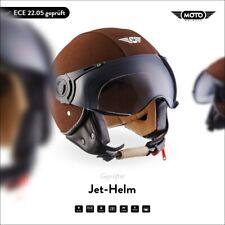 Jet-Helm Leder-Helm Roller-Helm Motorrad-Helm / MOTO H44 Leather B. XS S M L XL