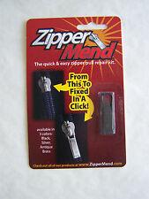 Zipper MEND Pull Tab Replacement Quick Click