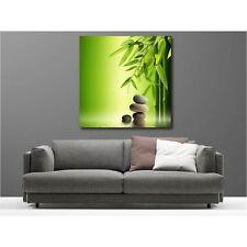 Tableaux toile déco carré galet bambou 58018579