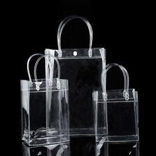 Plástico Transparente Bolsa Mujer PVC Cremallera Estadio Asas