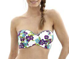 Panache SW0873 Swimwear Elle Bandeau Bikini Top White Floral
