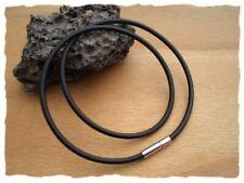 Schwarzes Halsband aus Kautschuk - Klick Verschluß - 3mm - Drei Längen