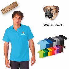 Polo Camicia Camicia Cotone ricamato Ricamo Boerboel + Testo a scelta