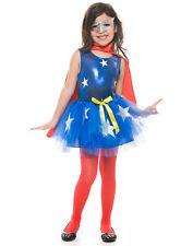 American Supergirl Hero Tutu Set With Top Girls Halloween Costume