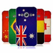 HEAD CASE VINTAGE FLAG Set 1 Soft Gel Custodia per Samsung Galaxy Xcover 3