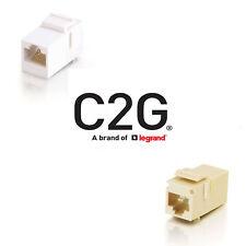 C2G-RJ45 (8P8C) Coupler Keystone Insert Module - White or Ivory