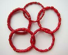 Genuine Red Coral Bracelet - Unisex.