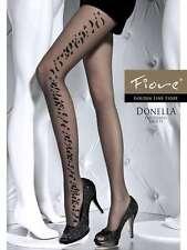Collant fantaisie sexy motif sur le coté de la jambe référence Donella de Fiore