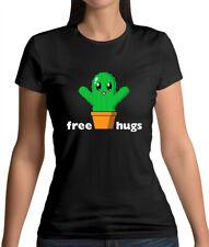 Free Cactus Hugs - Womens T-Shirt - Cute - Anime - Free Hugs - Cacti - Chibi