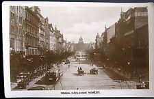 Czech Republic~1900's Prague~ Praha ~ Vaclavske Namesti ~ Downtown ~ Rppc