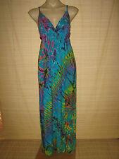 Tie Dye BOHO stretch knit Maxi DRESS (you choose color) best 10-14