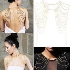 Style Sexy Body Women Jewelry Tassels Link Body Shoulder Chain Necklace BA