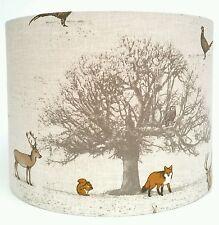 Woodland Animals Fabric Lampshade, Stag, Fox, Rabbit, Squirrel, Owl, Pheasant