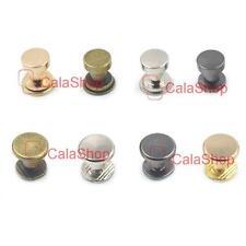 6x7mm 9x6mm Brass Button Chicago Rivets Studs Screw Screwback Leather Craft Belt
