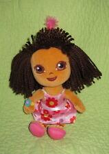 "Happy Birthday DORA Explorer Soft 9"" Doll TOY Celebration Pink Floral Dress Hat"