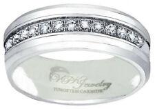 6 - 8mm Tungsten Carbide Men/Women Wedding Band Ring 13 CZ  sz 4-15 VPKJewelry