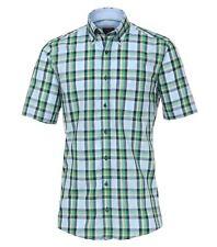 Casa Moda Premium Cotton Comfort Fit Short Sleeve Checked Shirt, Size XXL to 6XL
