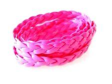 1m - 7 mm de cuero trenzado Cable Neon Colores Disponibles Para Hacer Pulseras De Cuero