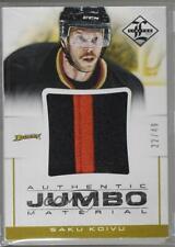 2012 Panini Limited Authentic Jumbo Material Prime #JJ-SK Saku Koivu Hockey Card