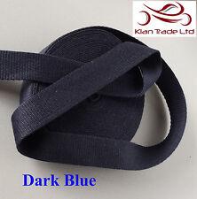 Bleu foncé couleur 25MM coton sangle bande souple ceinture bracelet en tissu sac robe-mkh