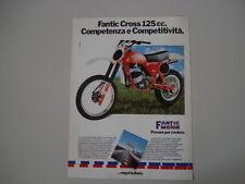 advertising Pubblicità 1980 MOTO FANTIC CROSS COMPETIZIONE 125