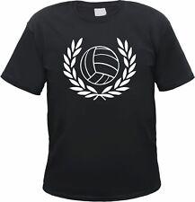 Herren T-Shirt - Lorbeerkranz und Retro Fussball - Schwarz/Weiss - ultras fans