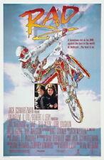 60875 RAD! 1987 BMX 80's Motorcross FRAMED CANVAS PRINT Toile