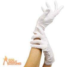 Ladies Short White Gloves Uniform Captain Sailor Fancy Dress Costume Accessory