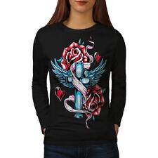 Love Cross Angel Rose Women Long Sleeve T-shirt NEW | Wellcoda