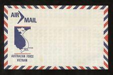 AUSTRALIA MILITARY VIETNAM c1960 UNUSED SPECIAL AIRMAIL ILLUSTRATED MAP