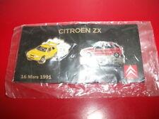 plaque pin's citroën ZX 1991